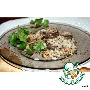 Грибы, фаршированные рисом