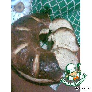Пшенично-творожный кулич