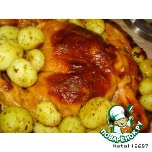 Фаршированная курочка «Райская пташка» с картофельным гарниром