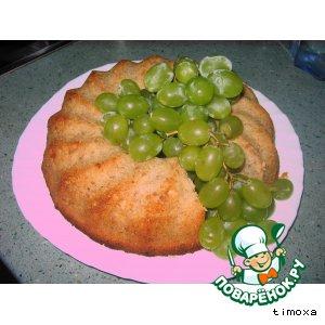Банановый кекс с печеньем