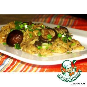 Китайская капуста с грибами шиитаке