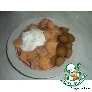 Тушеный картофель с пивом