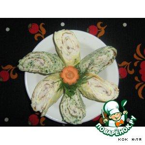 Куриные рулетики со шпинатом и сыром