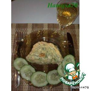 Картофельное суфле с рыбой и шпинатом