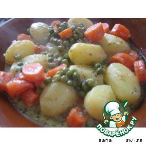 Картофель   в   сырно - сливочном   соусе