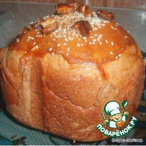Хлеб с зеленым чаем и финиками