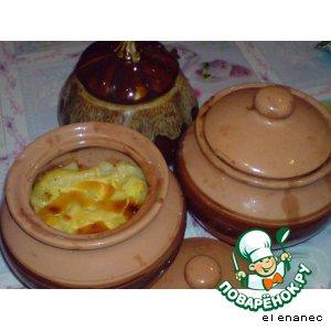 Куриная печень и пупки с картофелем