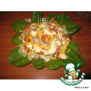 Нежный салат из телятины с красным пецем