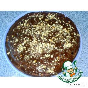 Пирог шоколадно-черничный