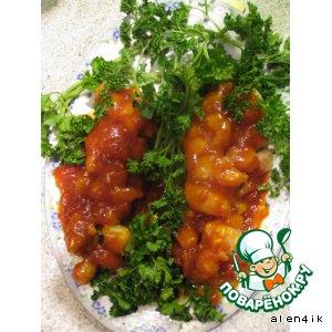 Рыбка-виноград в кисло-сладком соусе