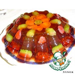 Слоеный желейный торт с ягодами