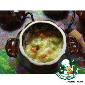 Куриные тефтельки с овощным ассорти в горшочке