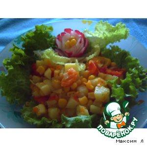 """Тушеные овощи """"Гавайские цветы"""""""