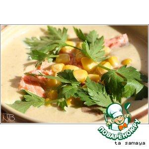 Сливочный крем-суп пюре с семгой
