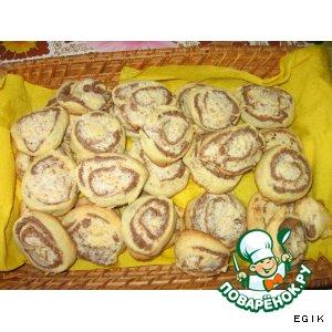 Печенье с орехово-кокосовой начинкой