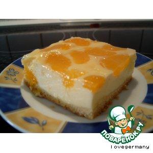 Сырный пирог с мандаринами 2