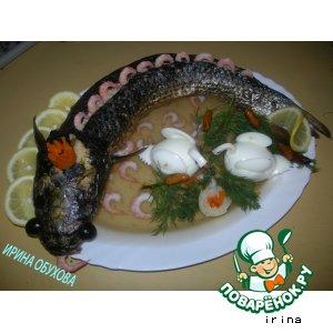 Рыбка фаршированная, заливная