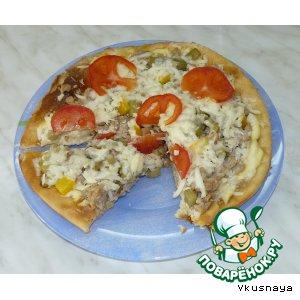 Пицца с фаршем, баклажанами и сулугуни