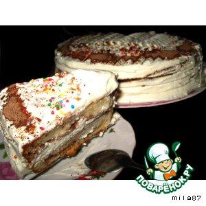 """Торт  """"Великое изобретение для молодых хозяек ))) """""""