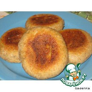 Лепешки с чесночно-сырной начинкой