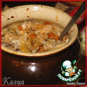 Гречка с курицей и овощами