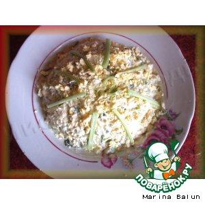 Весенний салат с ревенем