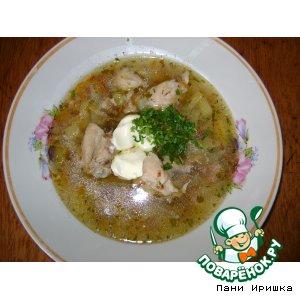Суп куриный с гречкой