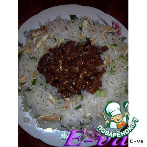Сладкое ананасовое мясо с почти азиатским рисом