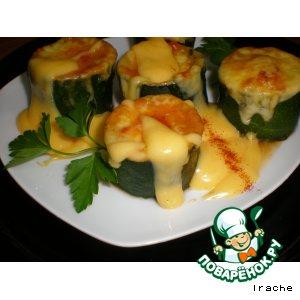 Фаршированные кабачки с ирландским соусом