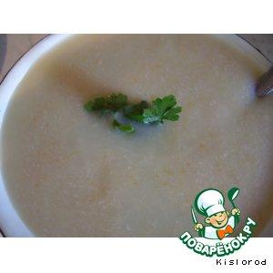 Суп-пюре с овощами и свининой