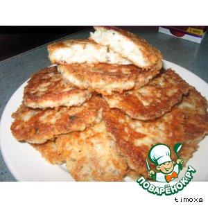 Хлебные оладушки с сыром