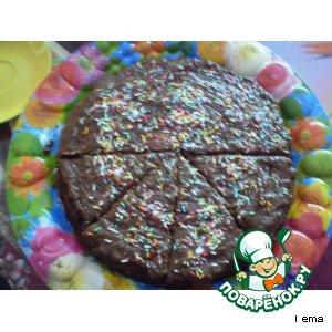 Тортик из вишнeвого варенья  с шоколадным кремом