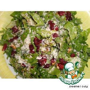 Салат с рукколой и сушеной клюквой