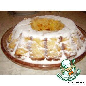 Творожный кекс с курагой и лимоном