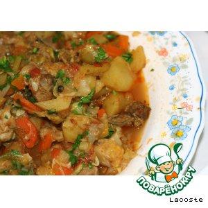 Рагу из овощей с бараниной