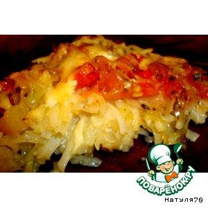 Картофельный тарт с овощами