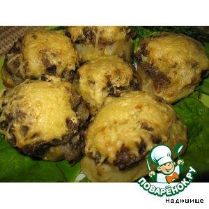 Картошка, фаршированная грибами