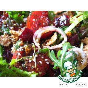 Фитнесс -  салат   с   семечками   и   кукурузными   хлопьями
