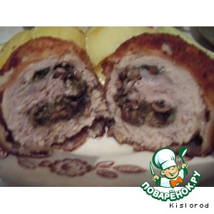 Отбивные из свинины с начинкой