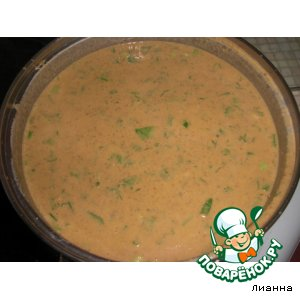 Томатный суп-пюре с чечевицей