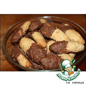 Ореховые палочки с шоколадом