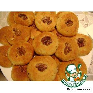 Творожное апельсиново-ореховое печенье