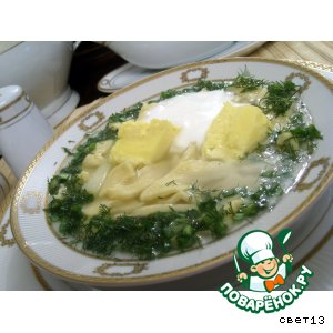 Кисломолочный суп