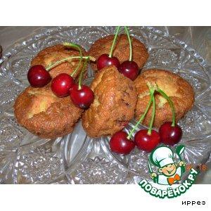 Мини-кексы с черешней