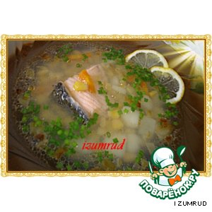 Рыбный супчик с кукурузой