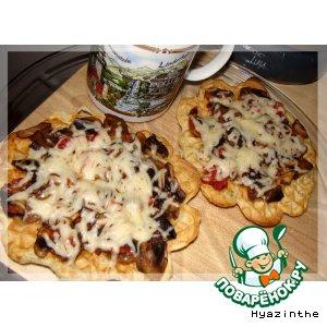 Вафли-пицца