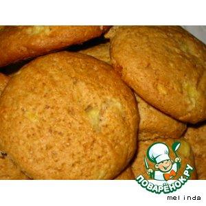 Печенье с ананасом и орехами