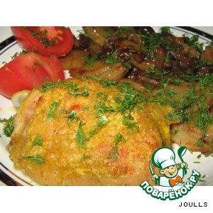 Курица в кефирно-карриевом маринаде