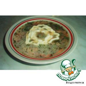 Овощной суп с ботвой