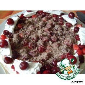 """Торт с маскарпоне и ягодами """"Настроение"""""""